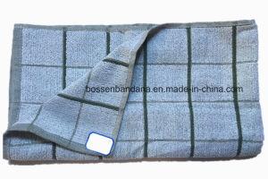中国の工場OEMの農産物の習慣はジャカード青いテリーの綿の台所ふきんを点検する
