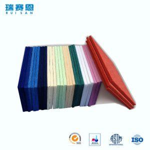 Panneau de mur acoustique matériel résistant sain de fibre de polyester