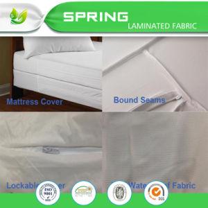 Melhor respirável impermeável capa do colchão com fecho de correr