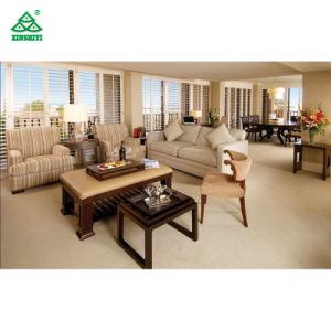 Elegante hotel de estructura de madera de respaldo alto de sofá cama/sofá para Hotel