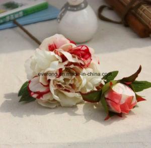 Искусственный шелк белого цвета Peony Оптовая доставка цветов поддельные цветами свадебного фо Hydrangea Peony и искусственные цветы
