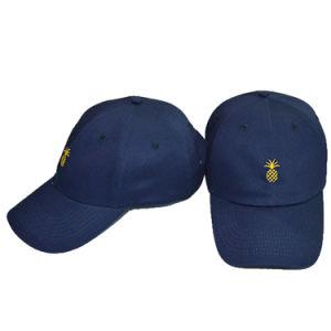 Custom Papá no estructurados, sombrero negro bordado en 3D Gorra de béisbol
