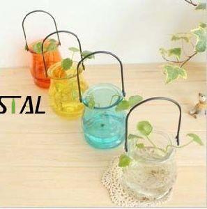 De kleine Fles van het Glas van /Colour van de Installatie van de Pot van de Grootte/van de Houder van de Kaars