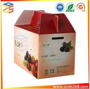 Custom Légumes Fruits tomate boîte en carton<br/> l&#039;emballage en carton ondulé avec poignée