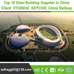 Q345b Poids léger préfabriqués doux Pre-Engineered Structure en acier de structure métallique du châssis de construction (exportés 200000MT)
