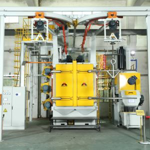 강철 탄 폭파 기계 제조자 강철 플레이트 및 관 지상 청소를 위한 최신 판매 Q37 시리즈 훅 유형 탄 폭파 기계