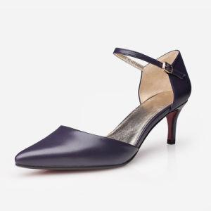 中国の熱い販売中間のかかとの新しいデザイン女性靴