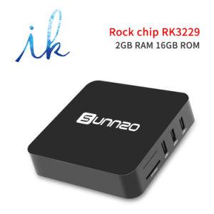 Sunnzo G8 androider intelligenter Fernsehapparat-Prokasten mit Felsen-Chip Rk3229 2GB RAM/16GB ROM-Support 4K 1080P, 2.4GHz WiFi