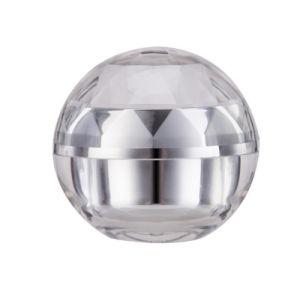 30g 50gは空けるアクリルのダイヤモンドの装飾的な包装の正方形の水晶目のクリームの瓶(PPC-NEW-011)を