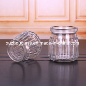 100mlプラスチックふたのコルクが付いているガラスプディングびん
