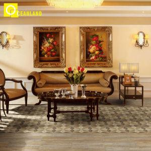 Природные кухней фарфора Мэтт коричневого цвета плитками на полу