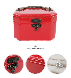 أرجوانيّة أحمر جديدة شخصية [بو] جلد [بورتبل] مستحضر تجميل صندوق لأنّ مجوهرات هبة تخزين