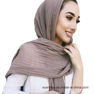 Fashion femmes musulmanes Maxi Long Hijab ondulations horizontales Turban  Turquie Style Hijabs Jersey châles foulard c4efc393c20