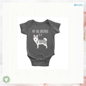 소매 아기 Bodysuit가 주문 색깔 0-24m 아기 옷에 의하여 누전한다