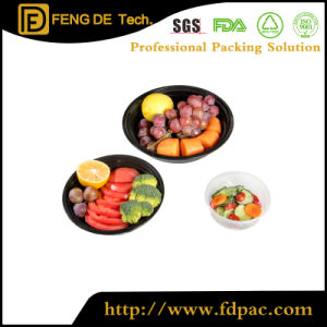 Round Deli Grau Alimentício próprio para microondas Takeaway claro de plástico reciclado fruto único descartáveis de almoço cozinha PP Fast Food Embalagem Recipiente plástico com tampas