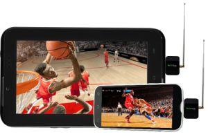Dvb-T2 dvb-t de Mobiele Digitale Androïde Telefoon/het Stootkussen van de Steun van de Tuner van TV van het Stootkussen van de Doos van de Ontvanger van TV HD Mobiele Vastgestelde Hoogste om het Levende Signaal van TV van Lucht te krijgen