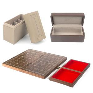 Usine de plastique ou Papier//cuir/de bois de velours bijoux personnalisés cadeaux de luxe et de la base du couvercle/boîtier de regarder l'emballage rouge/noir parfum cosmétiques Boîte de rangement