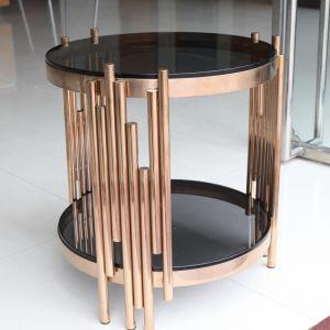 De nieuwe Koffietafel van het Glas van het Ontwerp met het Frame van het Metaal
