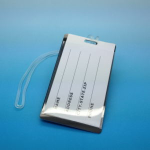 여행사 ID 이름표 항공 기장 부대 PVC 수화물 꼬리표 또는 선전용 연약한 PVC 수화물 꼬리표 선전용 여행 꼬리표
