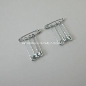 マラソンのためのコイル状デザイン28mm銀製のMeatlスポーツ安全ピン