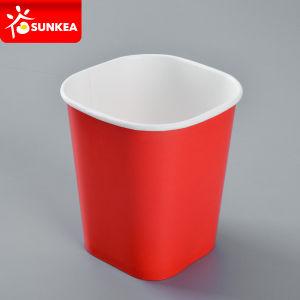 Прямоугольник квадратных бумаги контейнер для кормления мороженое