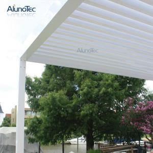 Gazebo de alumínio à prova de pátio com frestas sistema do telhado para a Piscina