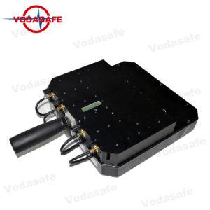 De Draagbare 6baste Stoorzender van de hoge Macht/Blocker, de Macht van de Output 80W; Straal 20100m, Al Mobiele Telefoon 3G/2g (GSM/CDMA/DCS) /4glte/Wi-Fi2.4G, het Kanon van de dekking van de Stoorzender van de Hommel voor Verkoop