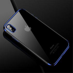 可動装置のiPhone Xのための背部シェルの電話箱をめっきする方法透過TPU柔らかいシリコーン