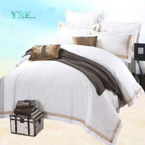 100%年の綿のホテルのリネンシーツの寝具セット