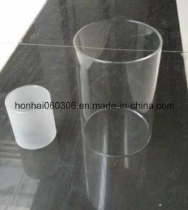 De gezandstraalde Cilinder van de Schoorsteen van de Lamp van het Glas Borosilicate