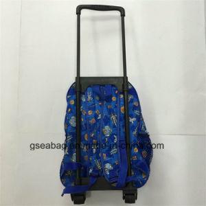 Sac multi de gosse d'école de course de molleton de fonction de sac à dos de chariot à qualité (GB#10008-3)