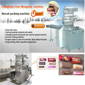 La galleta de la oblea sobre paquete de ajuste automático de la máquina (SWH 7017)
