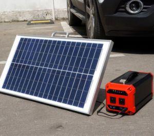300W многофункциональный портативный внешний аккумулятор с солнечная панель