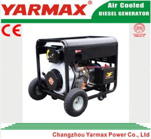 Yarmax 4.5kw 4500W portátil del pabellón silencioso Soldadura Generador Diesel