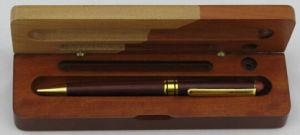 Металлические деревянные фонтан перо в деревянная подарочная упаковка