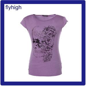China Fábrica unissexo impresso personalizado de cor sólida T-shirt de algodão Camiseta camisa T