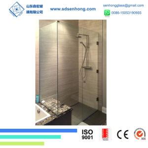 Cuarto de baño empapado de calor de la puerta de vidrio templado