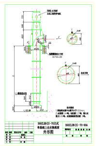 Singel Foundation Axial Flow de la pompe à eau avec 350zldb (S) -70