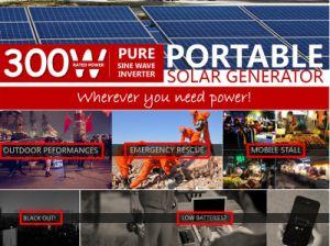 330Wh off-Grid de batería solar sistema alimentación portátil