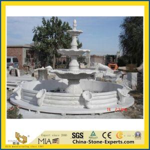 Castro natural tallado en mármol blanco/estatua de piedra de granito//Escultura figura para Plaza/jardín o la decoración