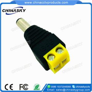 Connettore di corrente continua del CCTV con il terminale di vite giallo (PC102YL)
