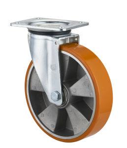 200мм ЕС стиле из алюминия для тяжелого режима работы Core PU поворотный самоустанавливающегося колеса