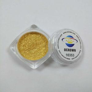 16353の微光の赤味がかった金水晶ペンキのコーティングの真珠の顔料