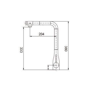 Gesundheitlicher Ware-Qualitäts-Küche-Hahn mit Wasserzeichen-Zustimmung (AQ56C55)