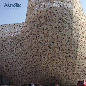 Comitato di alluminio perforato di alluminio della parete divisoria della facciata esterna della costruzione