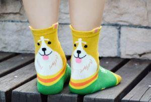 Perro Gato animales Unisex informal el patrón de los calcetines de dibujos animados