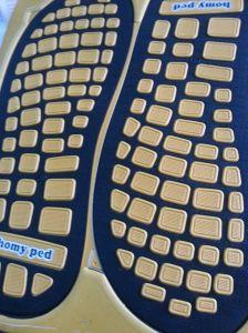Folha dobro do Insole de EVA da cor para sandálias e deslizadores do flip-flop da massagem
