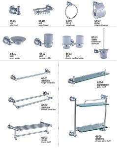 De Borstel en de Houder van het Toilet van het Aluminium van de Badkamers van Foshan plaatsen 6600 Reeksen