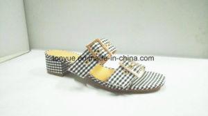Chaussures femmes Les femmes des chaussures en cuir Lady PU Chaussures en cuir Talon plats en bois