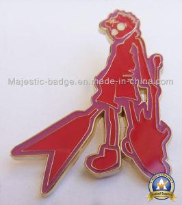 カスタマイズされた亜鉛は鋳造物の赤く堅いエナメル金によってめっきされるPinを停止する